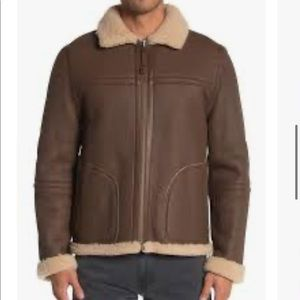 Vince Reversible Shearling Lamb Leather Jacket